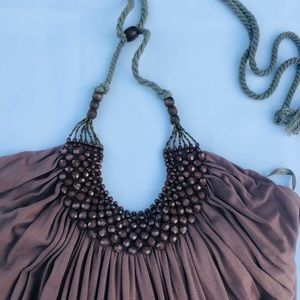 Romeo and Juliet Couture brown halter top. Medium